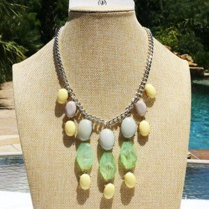 Boho Necklace Tropical Tassel Mixed Bead Statement